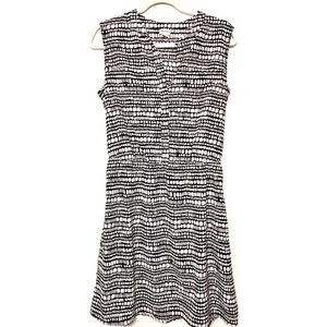 Merona abstract Black and White Print Dress Size M